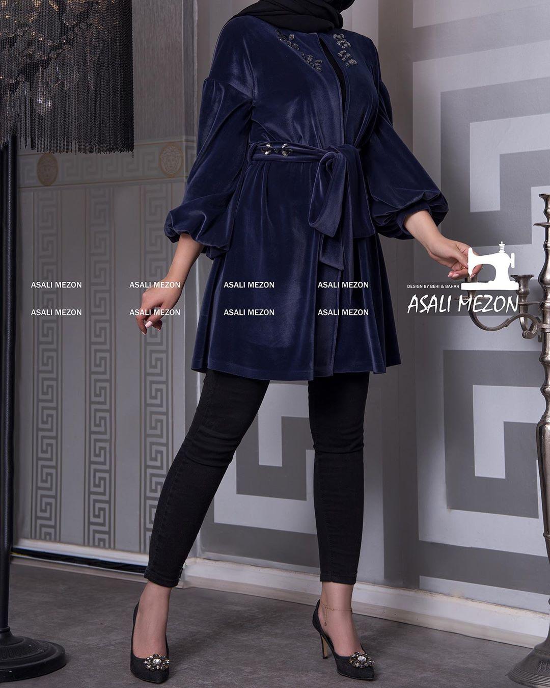 مدل مانتو اسپرت پاییزی مخمل دخترانه