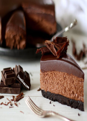 طرز تهیه چیزکیک شکلاتی