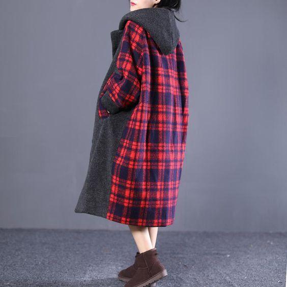 مدل پالتو چهارخانه زنانه