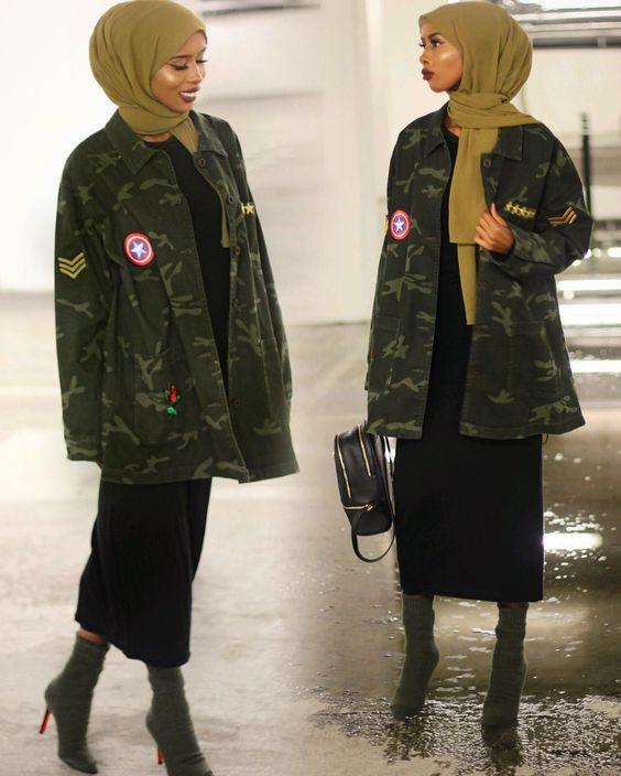 مدل مانتو  ارتشی پاییزه دخترانه شیک