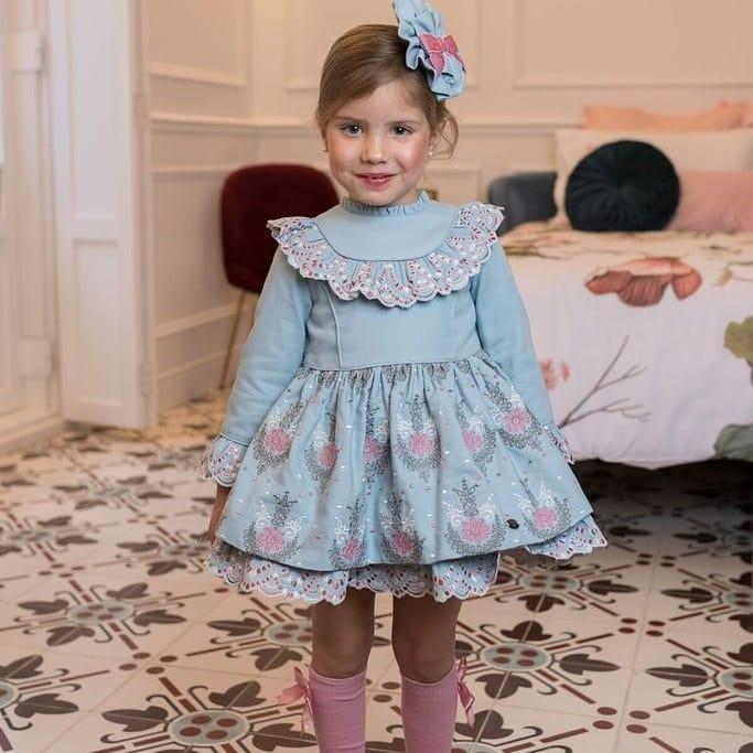 مدل لباس دختربچه نخی