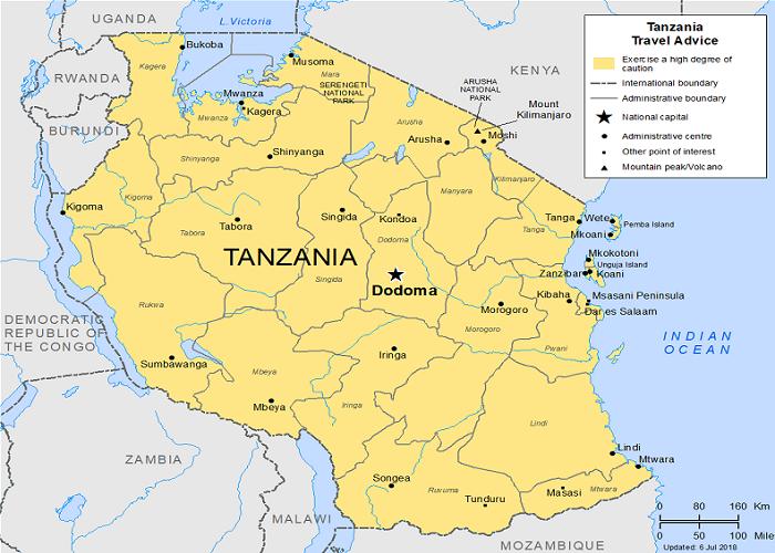 تانزانیا کجاست ؟