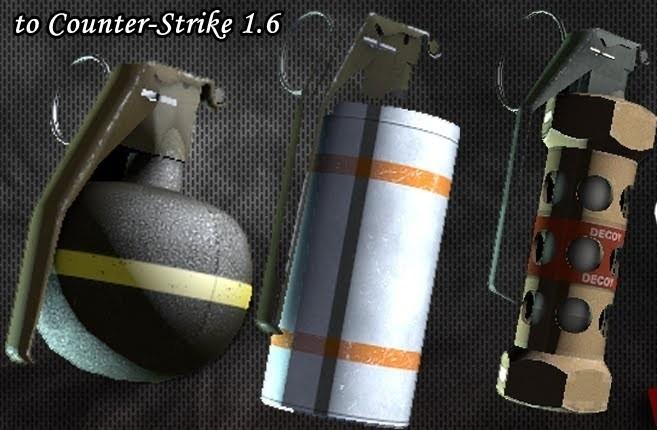 دانلود اسکین CSGO Grenades Pack برای کانتر استریک 1.6