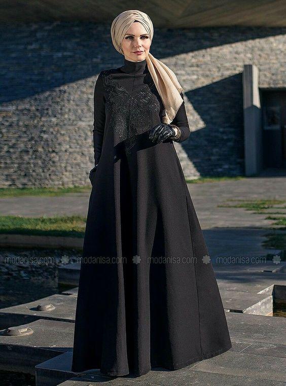 مدل مانتو بلند زنانه مشکی