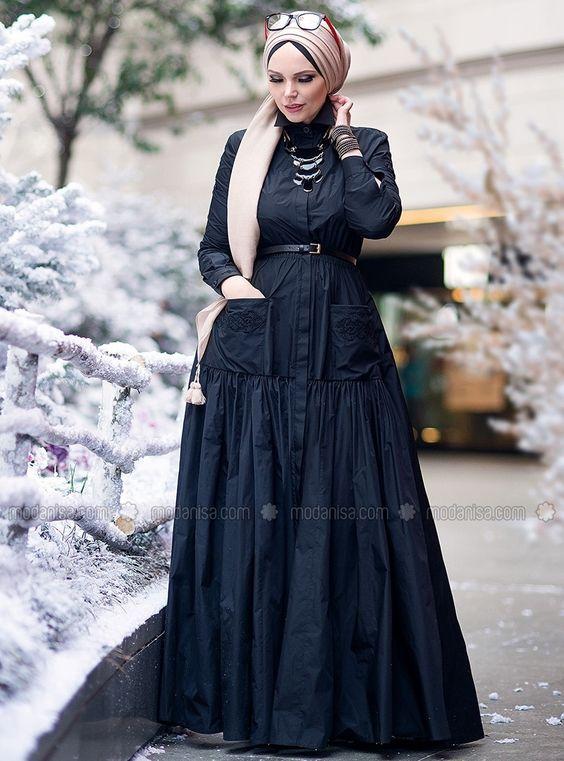مدل مانتو بلند زمستانی