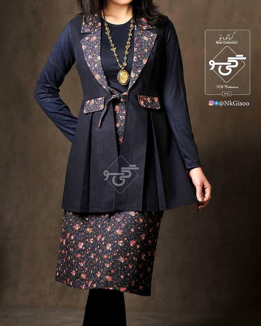 مدل مانتو سنتی دخترانه دوتکه