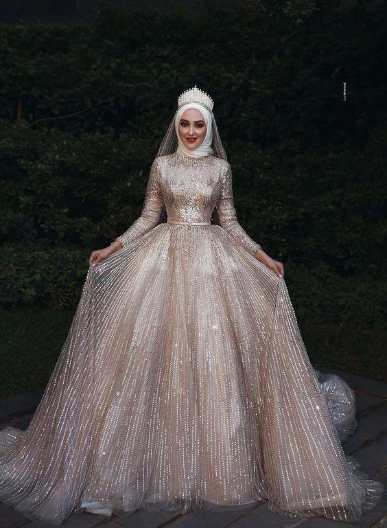مدل لباس عروس پوشیده در اینستاگرام 98