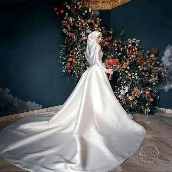 مدل لباس عروس کاملا پوشیده اسلامی
