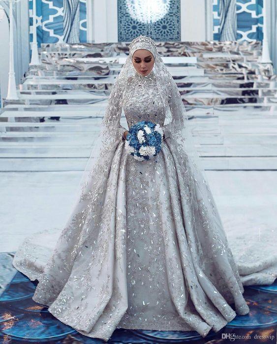 مدل لباس عروس ایرانی پوشیده جدید