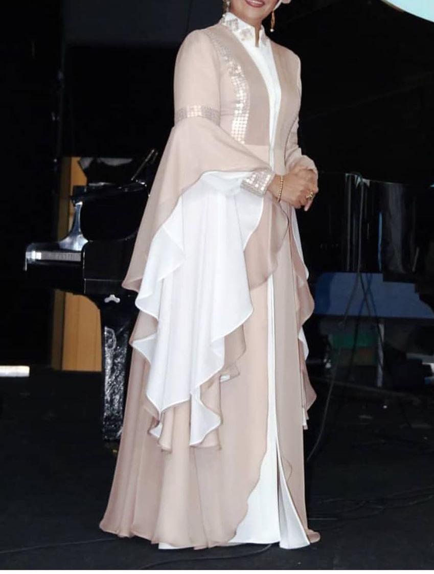 مدل لباس مجلسی بلند دخترانه پوشیده