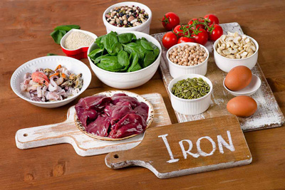 درمان کم خونی فقر آهن،غذاهای آهن دار
