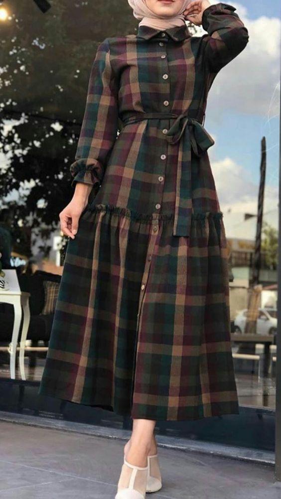 مدل مانتو چهارخونه دخترانه
