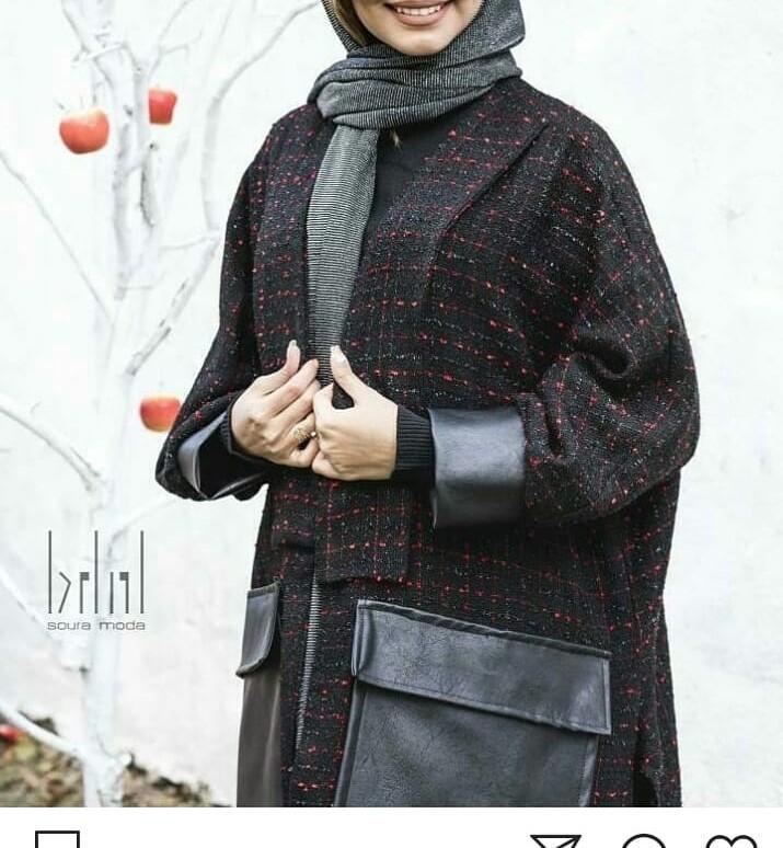 مدل مانتو زمستانه با پارچه پشمی