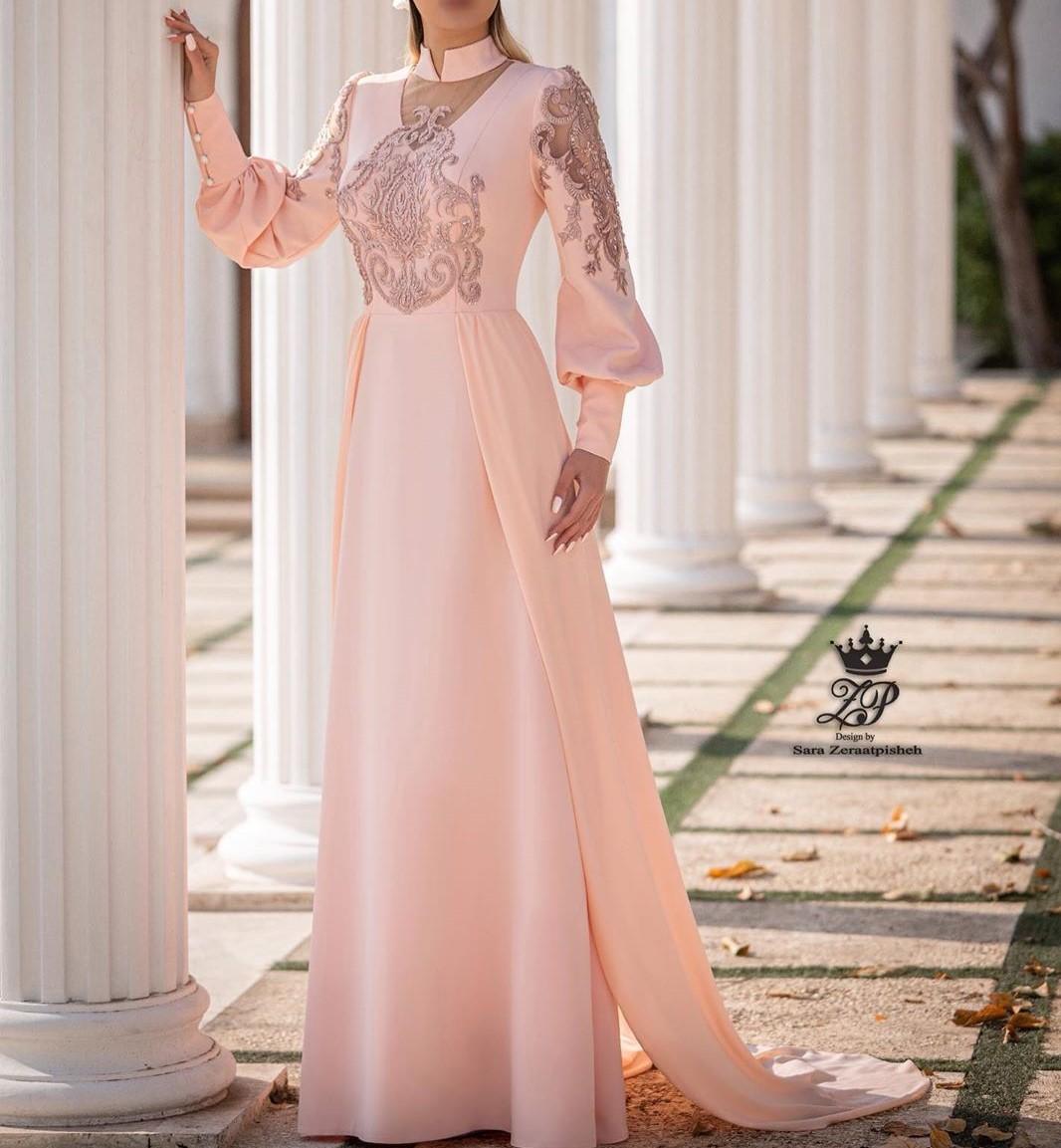 مدل لباس عروس استین دار