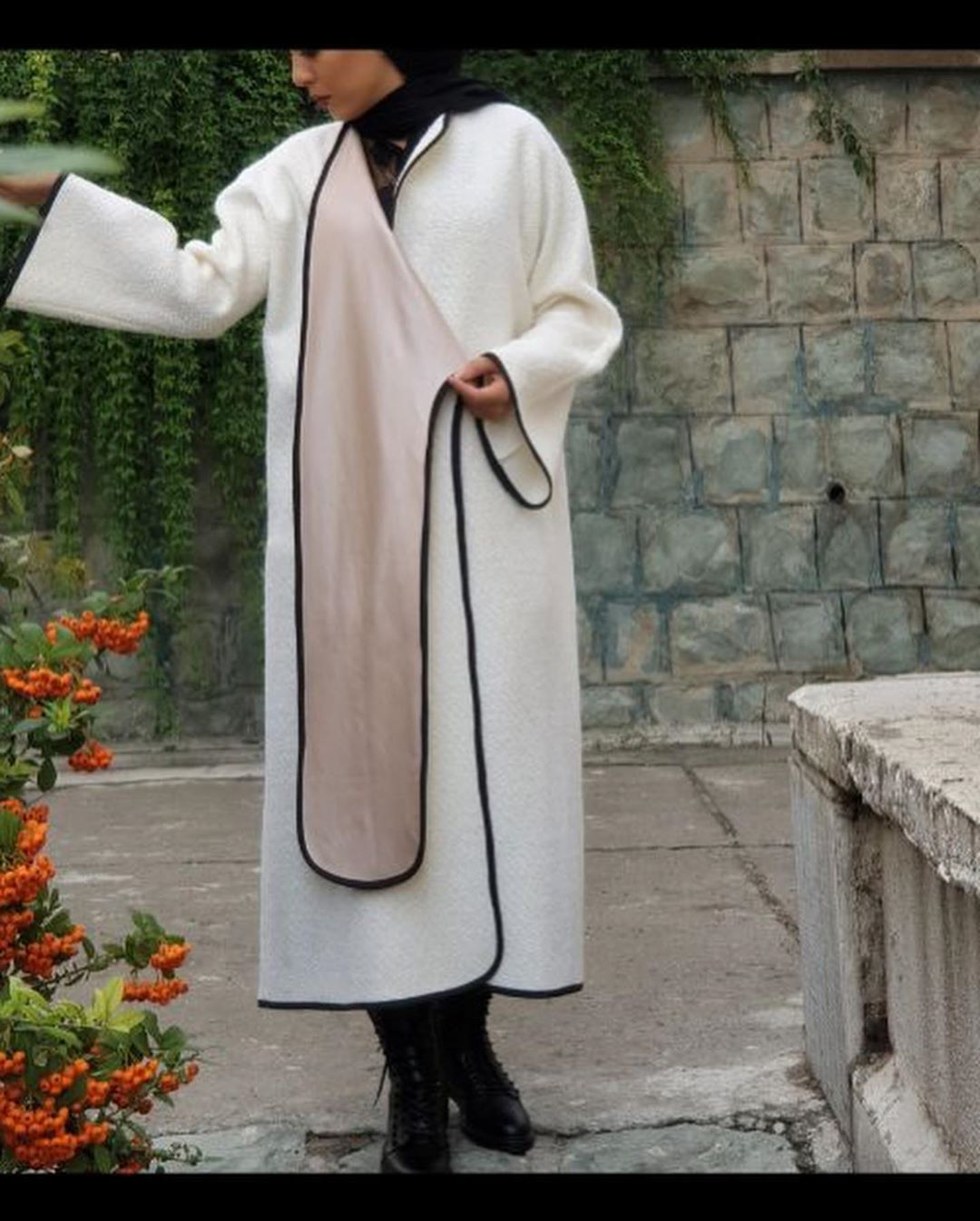 مدل پالتو بلند زنانه جلوباز