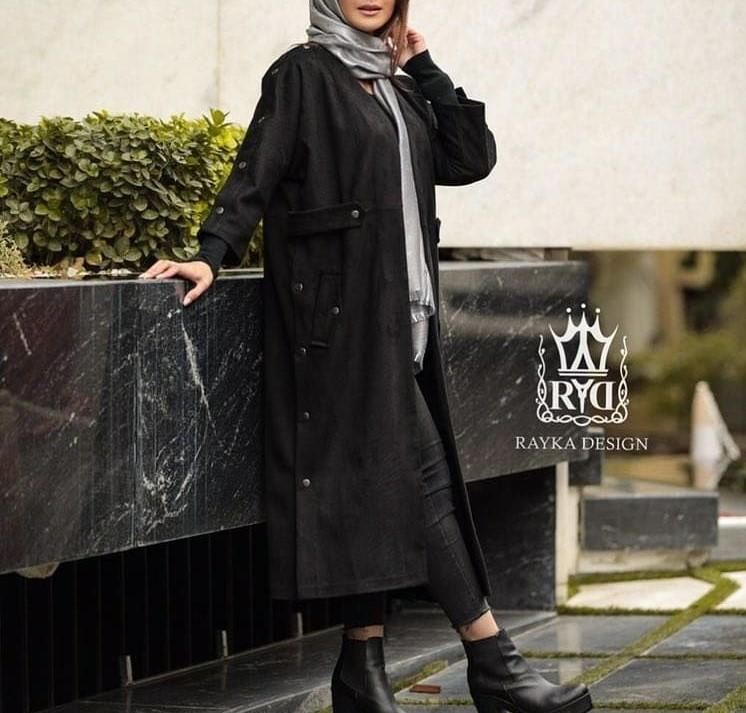 مدل زیبا از پالتو بلند زنانه بلند