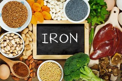 جذب آهن در بدن ، مواد غذایی حاوی آهن