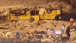 واژگوني اتوبوس اصفهان تبريز 9 کشته برجا گذاشت