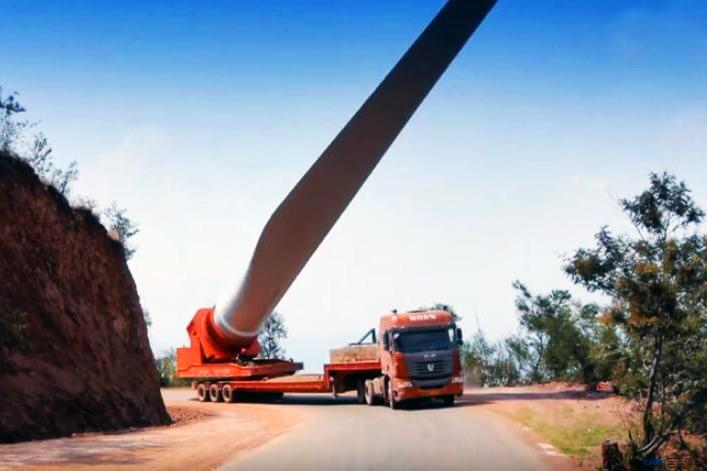 پره توربین بادی را چگونه حمل میکنند؟