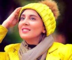 ليلا بلوکات با کلاه و پالتوي زرد / عکس زيبا از ليلا بلوکات