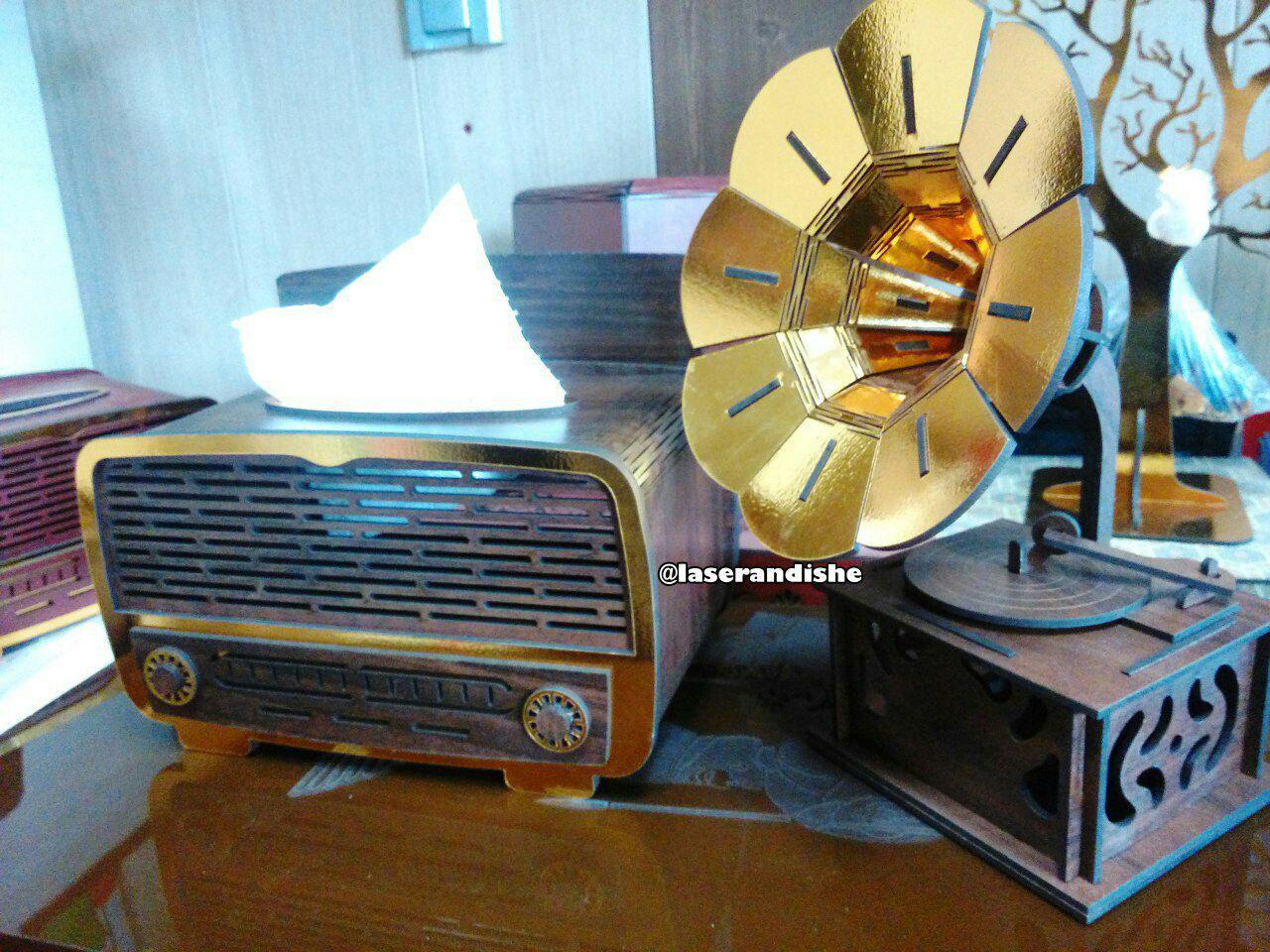 فروش جعبه دستمال راديو قديمي