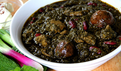 طرز تهیه قورمه سبزی،قورمه سبزی بوشهری