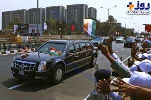 ترامپ با خودروي کلاس بالا در هند