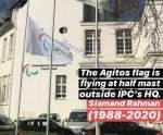 به احترام مرحوم سيامند رحمان پرچم پارالمپيک نيمه برافراشته شد
