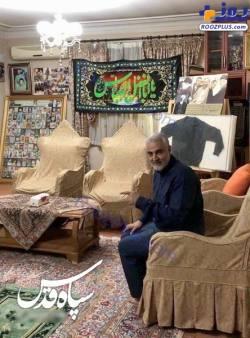 عکس سردار سليماني در منزلشان
