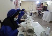 کارگاه توليد ماسک در دوگنبدان راه اندازي شد