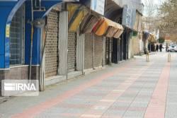 بازار مهاباد به علت کرونا به خواب رفت