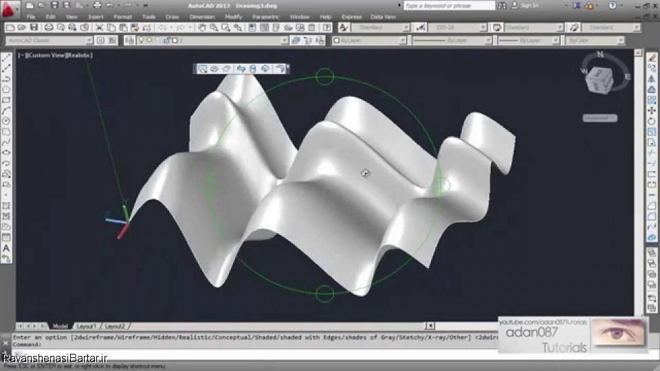 ترسیم احجام در اتوکد سه بعدی AutoCAD 3D