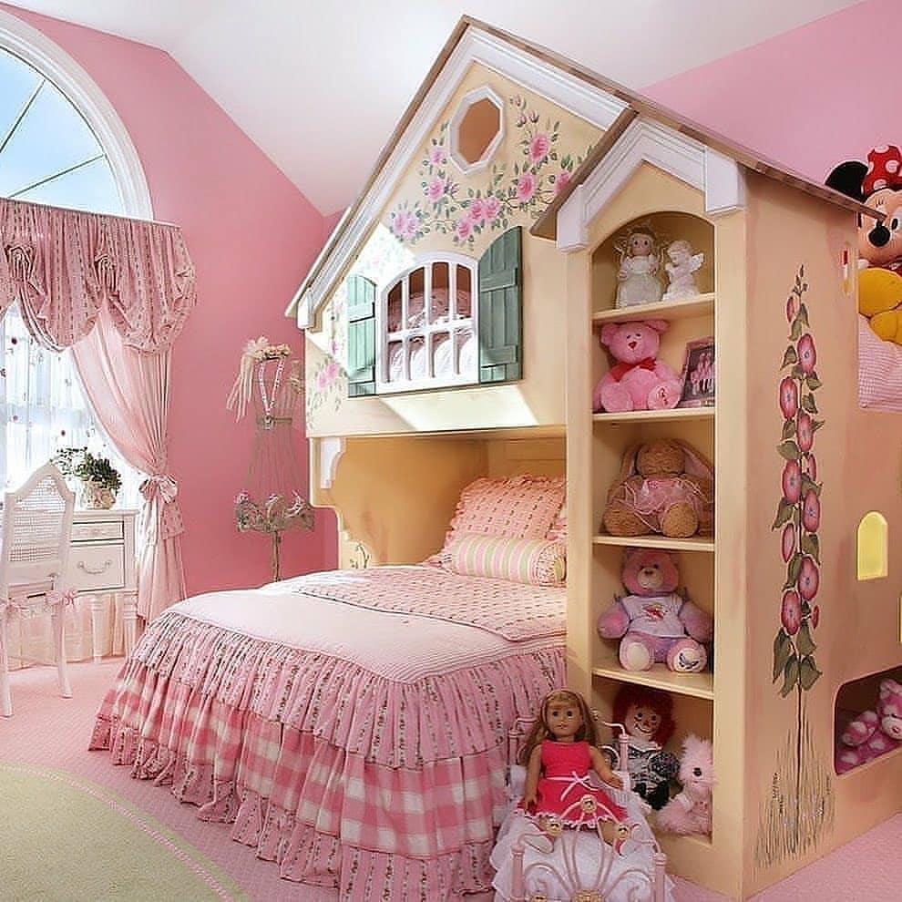 مدل دکوراسیون اتاق خواب دختربچه