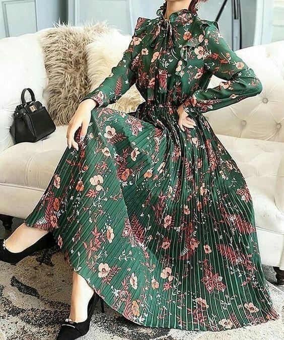 مدل پیراهن بلند زنانه مجلسی