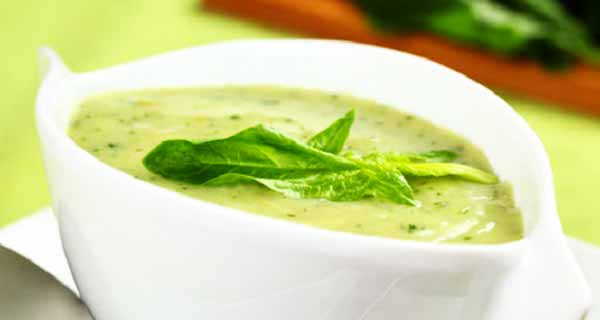 طرز تهیه ی سوپ اسفناج