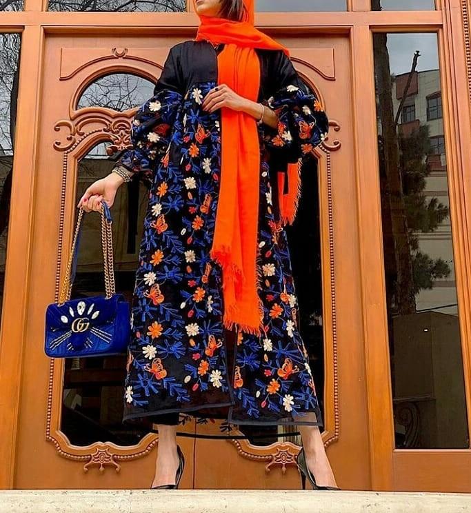 مدل مانتو بلند تابستانه جلوباز