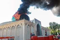 گنبد مسجد مالک اشتر در آتش سوخت
