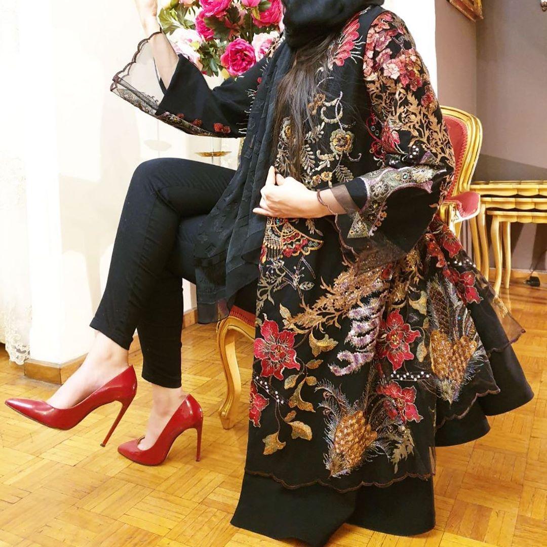 مدل مانتو مجلسی جلو باز زنانه