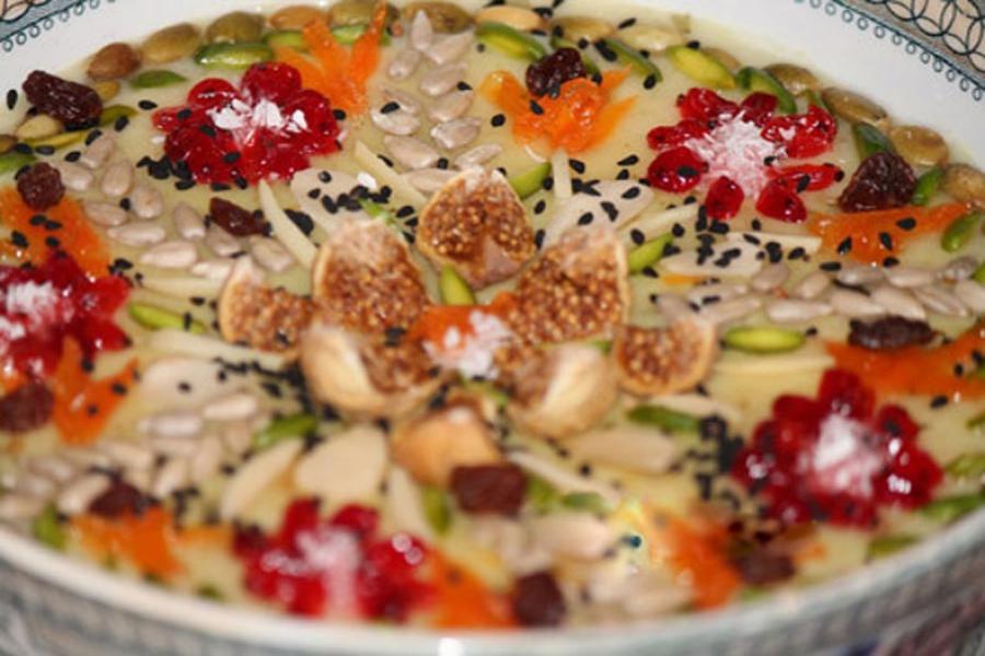 طرز تهیه آش خشکبار همدان