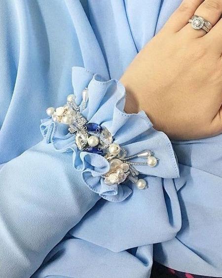 آموزش مروارید دوزی لباس