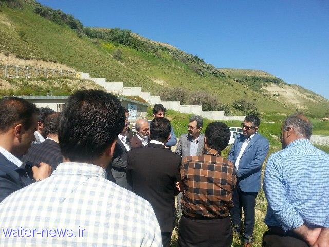 بازدید نماینده و معاون استاندار کردستان از پروژه های احداث تصفیه خانه های آب و فاضلاب دیواندره