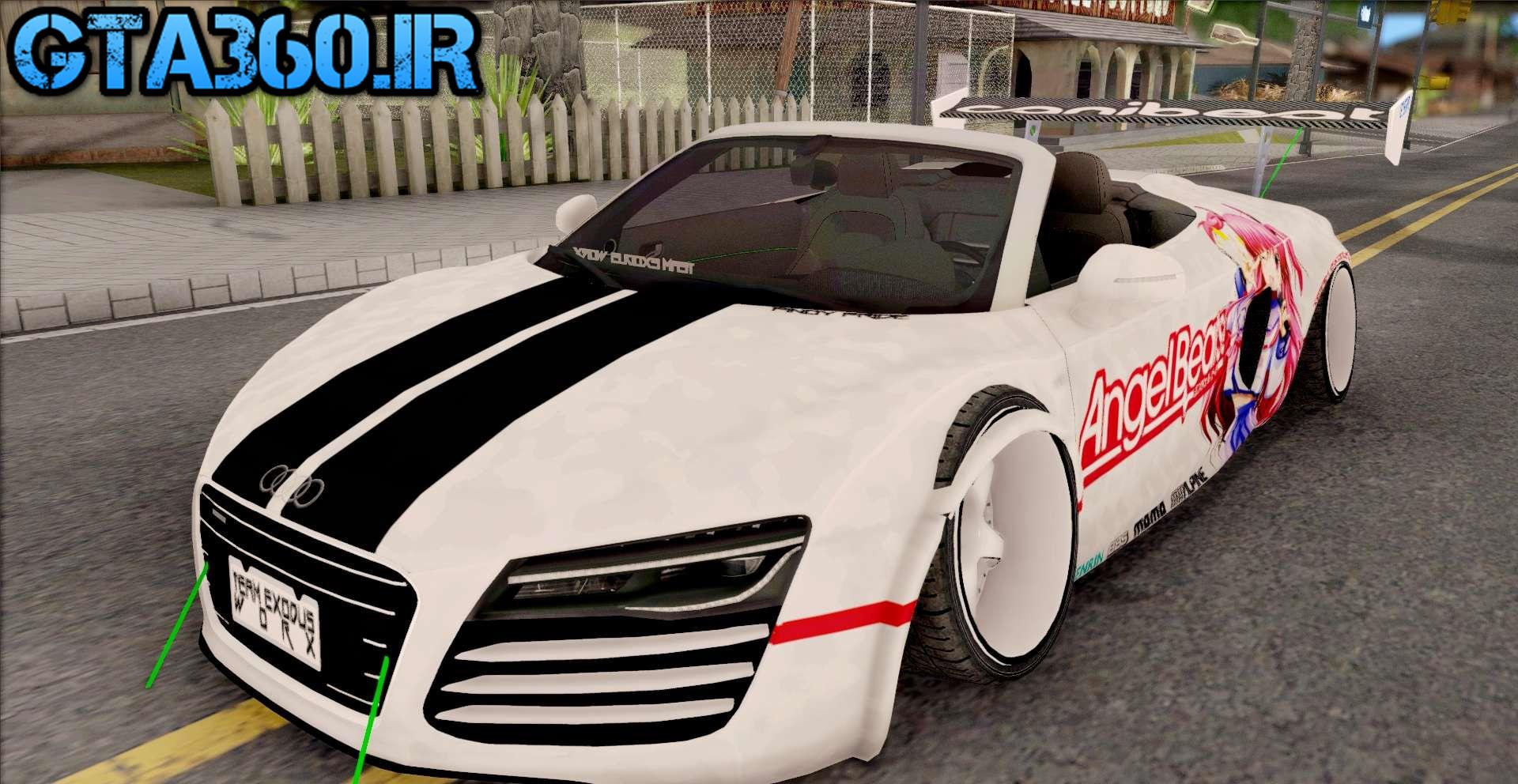 Audi R8 برای Gta sa