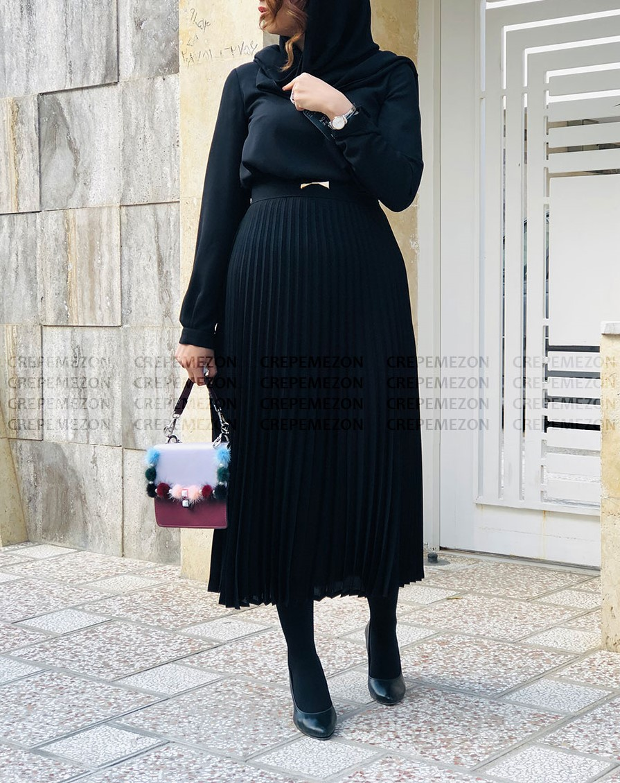 جدیدترین مدل مانتو مشکی دخترانه