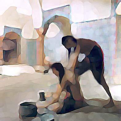 داستان خواندنی «  نصوح مردی که در حمام زنانه کار میکرد »