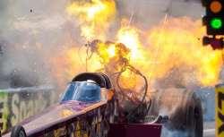 انفجار وحشتناک موتور ماشين مسابقه