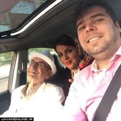عکس سه نفري احمد پورمخبر با دختر و پسرش