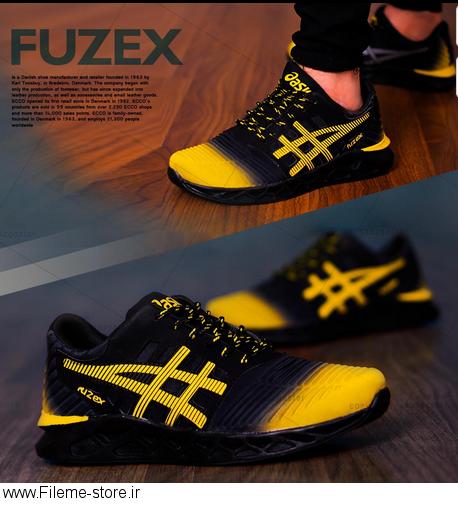 کفش مردانه Asics مدلFuzex (مشکی،زرد)