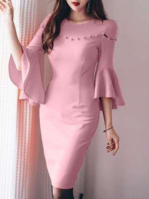مدل لباس مجلسي با آستين کلوش بسيار زيبا و جذاب