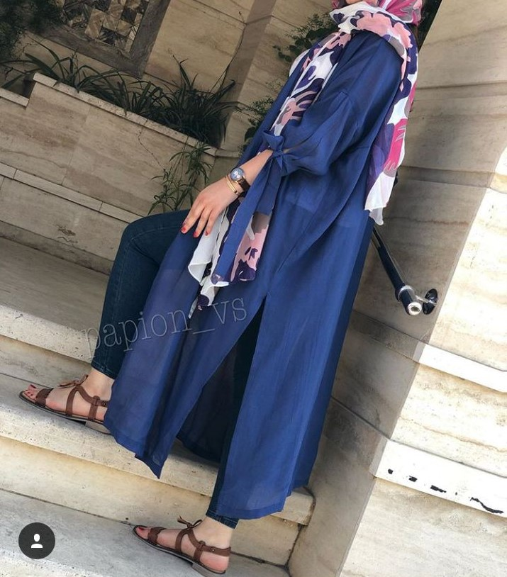 عکس مدل مانتو بلند تابستانه