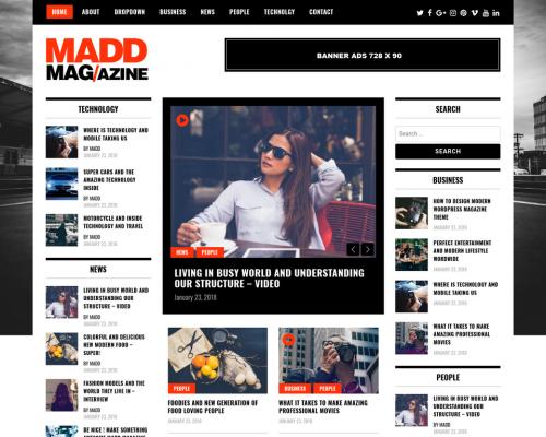 قالب وردپرس Madd Magazine فارسی